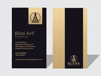Alpha Business Card Design