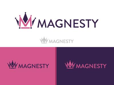 Magnesty Final Logo vector ux ui branding crown logo alvi studio magnet majesty