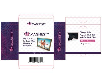 Magnesty Packaging Design illustration ui ux vector alvi studio frame box packaging crown majesty magnet