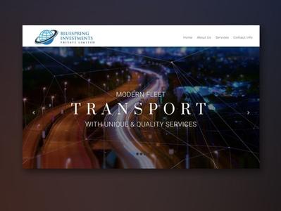 Blue Spring Website transport interface globe investment branding alvi studio design ux ui