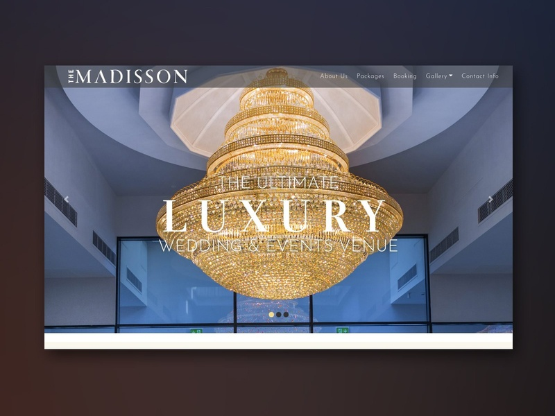 Madisson Website luxury event alvi studio design branding ux ui website design hall wedding