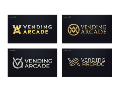 Vending Arcade logo concepts alvistudio logo design diamond logo shop jewellery gold diamond jewelry