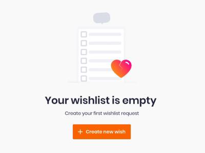 Empty Wishlist Animation list like love wish list heart icon design art motion gif lottie wishlist animation