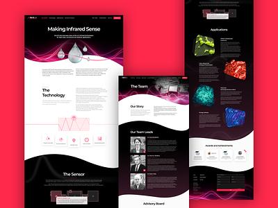 MaxIR - Making Infrared Sense - Website science liquid animation web website webdesign websitedesign uxui uiux ux ui design art digital mondeostudio mondeo ir infrared laser maxir