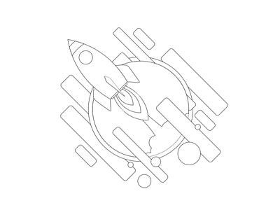 Weka t-shirt  design rocket space mondeostudio shirt motion design aftereffects illustrator print graphicdesign shirtdesign vector illustration branding animation design