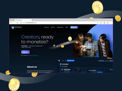 Marketplayz website ux uiux webdesign website branding graphic design ui