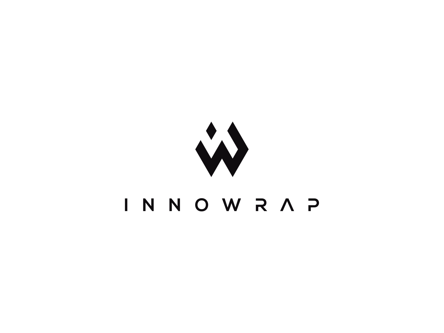 Inno Wrap solutions cloud initials branding design logo