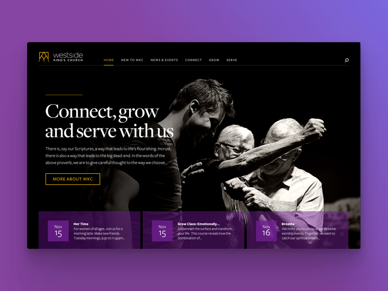 Church website concept web design ux concept website ui church