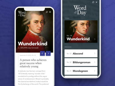 Word Of The Day App Concept