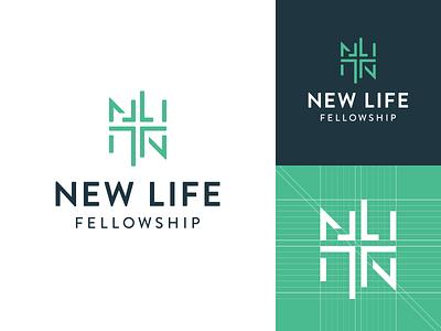 New Life Fellowship Final Logo identity branding church design logo church branding