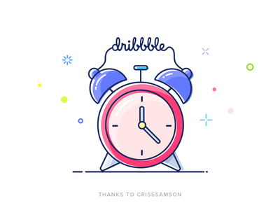 Hello dribbble! filled outline mbe alarm clock first shot dribbble invite thanks