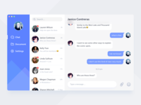 Daily UI #09 - Chat Desktop Application