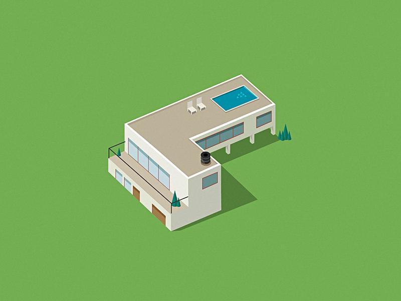 A little house 2.5d illustration ai