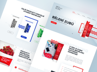 Landing page dental products