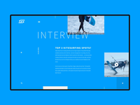 Kitesurfing web site design animation - interview page motion