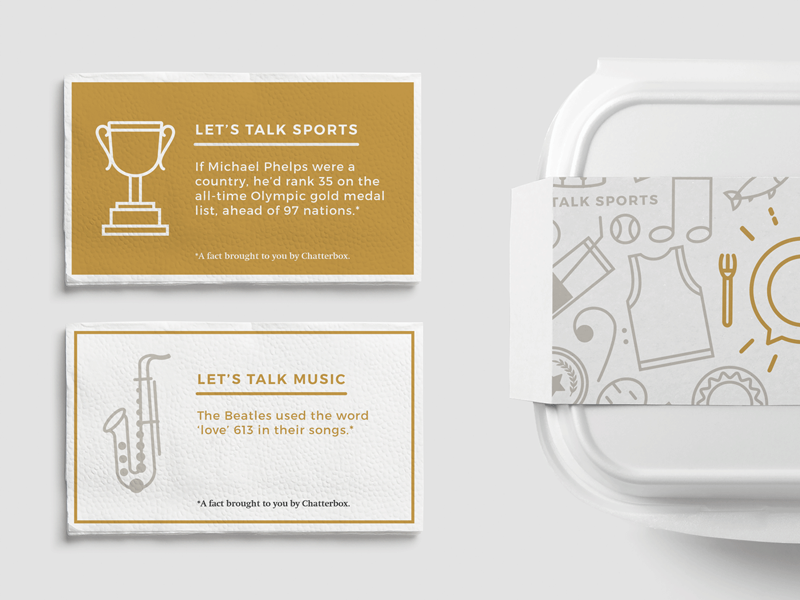 Let's Talk Chatterbox to-go box napkins