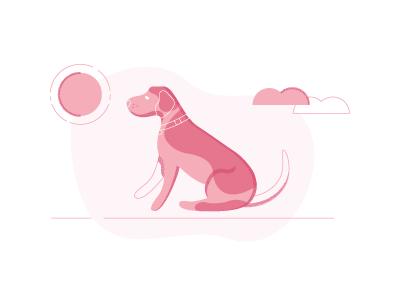 Spock texture illustration dog