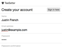 Teesetter Signup