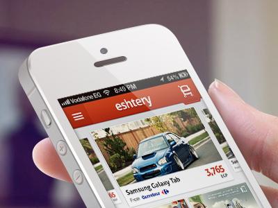 Eshtery eshtery iphone cart mobile app store ios