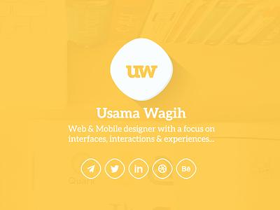 Portfolio Design portfolio usamawa usama wagih landing onepage