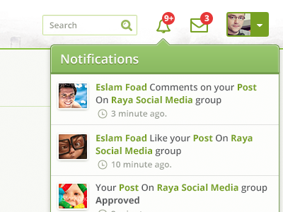 Notifications notifications alert user messages search
