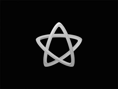 star simple monoline monogram icon logo star