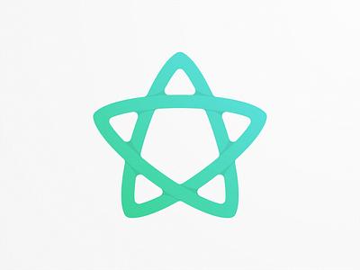 star monogram monoline simple logo star