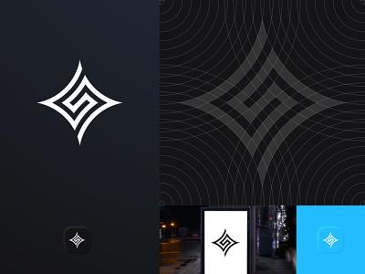S ideas vector grid icon simbol brand identity minimalist monogram simple technology logos logo design