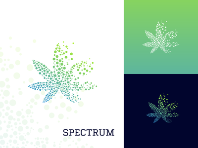 Spectrum Cbd marijuana icon logo