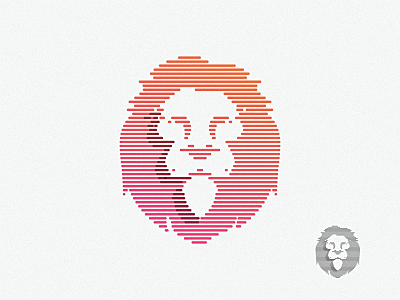 lion lionking logo abstract colorful lowpoly technology lion