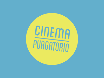 Cinema Purgatorio logo cinema branding logo
