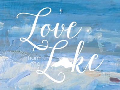 Love from the Lake logo branding logo