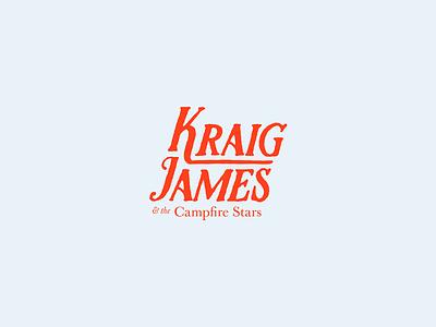 Kraig James & the Campfire Stars logo musician branding logo