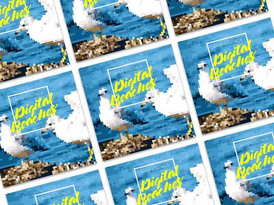 The Good Colonels 'Digital Beaches' album cover album art album cover