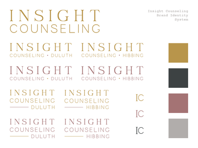 Insight Counseling identity logo branding