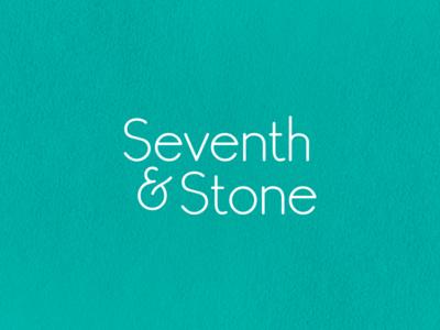 Seventh & Stone logo word mark logo