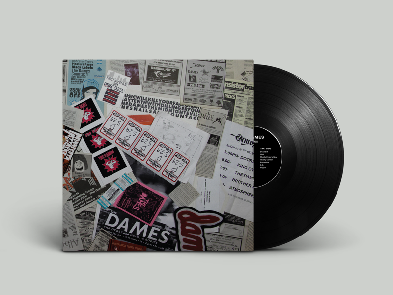 The Dames 'Detritus' LP Jacket minnesota duluth album cover vinyl