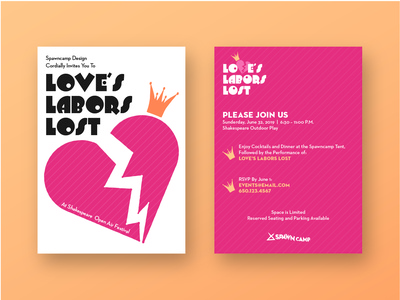 Love's Labors Lost Invite