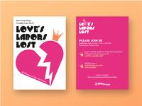 Love's Labors Lost Invite