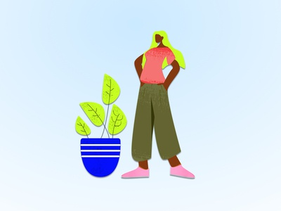 Let it grow character digital art cartoon fun vector figma design sketch illustration