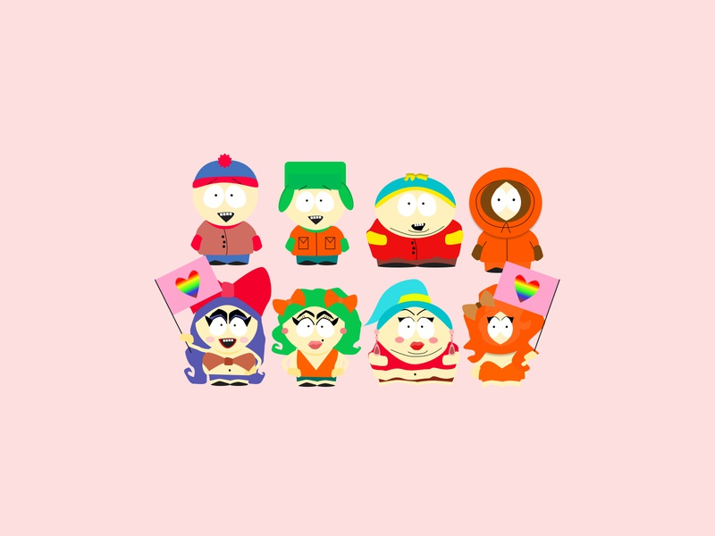 South Park Pride satire drawing character digital illustration cartoon figma digital art vector fun illustration illustrator south park