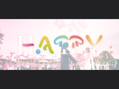 Happy ハッピー kana japanese poster typography
