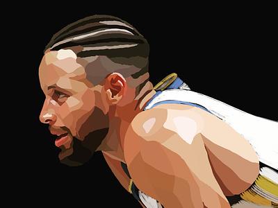 Stephen Curry @Goldenstate Warriors nba procreate art illustraion