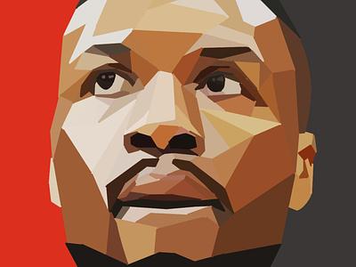 Damian Lillard @Portland Trail Blazers procreate nba art illustraion