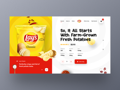 Lay's Web UI exploration header modern flavor website product orizon uidesign uiux templates website design cart section design site mockup webdesign landingpage homepage ecommerce webpage marketing
