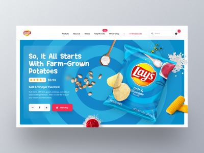 Lay's Web UI exploration marketing webpage ecommerce homepage landingpage webdesign mockup websites section design website design uiux templates uidesign orizon product website flavor modern header