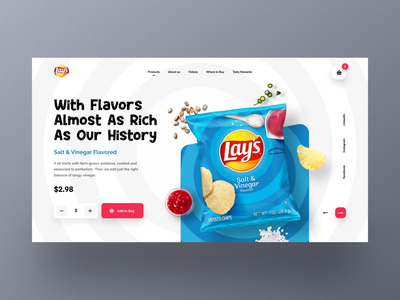 Lay's Web UI exploration chips header modern flavor website product orizon uidesign templates uiux website design section design websites mockup webdesign landingpage homepage ecommerce webpage marketing