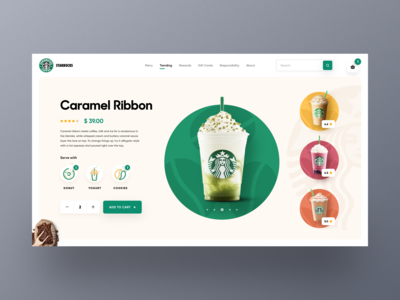 Starbucks Web UI exploration 2020 trends webpage colorful design clean design starbuckscoffee coffee bean shopify online shop orizon uidesign uiux design coffee starbucks mockup ecommerce homepage web design website landing page