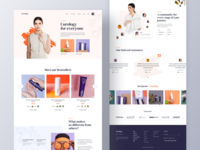 Curology Landing Page concept web page homepage model fashion personal care shopping ecommece makeup beauty cosmetics product skincare website design websites mockup ux landing page ui website landingpage curology