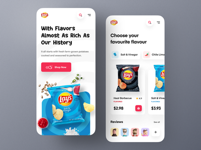 Lay's Website - Mobile concept food lays crackers crisp mobile website design website web design uiux uidesign product orizon modern mockup mobile website landing page homepage responsive web design flavours ecommerce chips